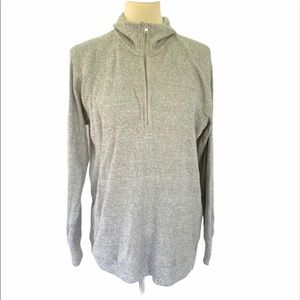 Who What Wear Gray Pullover Ribbed Sweater XL